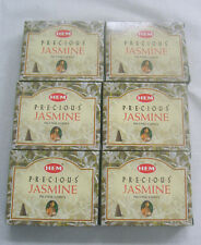 Hem Incense Cones PRECIOUS JASMINE, Bulk Lot of 6 Packs of 10 Cone = 60 Cones