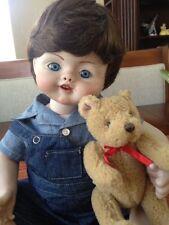 Vintage All Porcelain Doll Boy Doll Super Cute By Romans