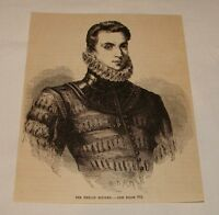 1887 magazine engraving ~ SIR PHILIP SIDNEY, Poet