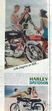 vintage 1967 HARLEY-DAVIDSON RAPIDO 125 cc  AD / ADVERTISEMENT