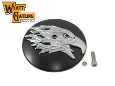 Round Eagle Chrome Air Cleaner Cover Insert For Harley-Davidson