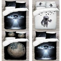 UK Made 3D New Mix Space Design Digital Duvet Quilt Cover With Pillowcase