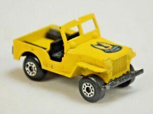 *RARE VTG 1978 MATCHBOX SUPERFAST No11 SLEET-N-SNOW JEEP CJ5 7 GLIDING CLUB 1/62