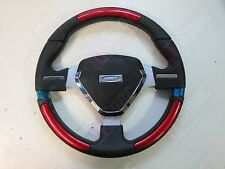 FLAT 320mm PU LEATHER TYPE R SHIELD STEERING WHEEL RED OMP MOMO NARDI SPARCO BF
