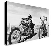 EASY RIDER - 1969 Iconic Bike Movie - Canvas Wall Framed Art  - Various sizes