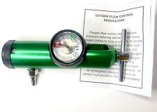 Line2design Oxygen Tank Regulator Uni Body Medical Aluminum 0 15lpm Green