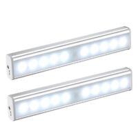 2pc Night Lights PIR Motion Sensor Stick-On Anywhere Darkness USB Recharge Light