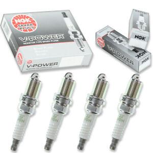 4 pcs NGK V-Power Spark Plugs for 1992-2003 Mitsubishi Galant 2.0L 2.4L L4 - tz