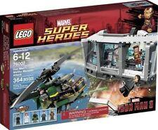 NEW SEALED BOX Marvel Superheroes LEGO 76007 Ironman: Malibu Mansion Attack