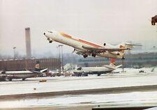 IBERIA Boeing 727 departing a snowbound Heathrow Airport -  6x4 Print