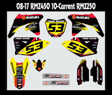SUZUKI RMZ450 CUSTOM MX GRAPHICS 2008-2017 FACTORY OEM
