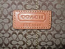 "L@@K! AUTHENTIC NEW COACH SIGNATURE ""C' LEATHER TRIMMED LAPTOP BAG SLEEVE LARGE"
