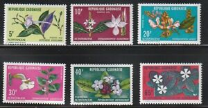 Gabon   1972   Sc # 284-89   Flowers   VLH   (54718)