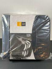 CASE LOGIC CDW-320 336 DISK CAPACITY CD WALLET BLACK CANVAS DVD  - NEW