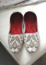 Para hombre novio boda Kursa ocasión Desi zapatos talla 10 con motivo de piedra de brocado