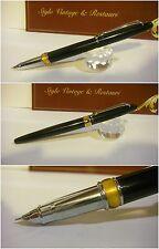 Stilografica Cocodrile Black 101 Fountain Pen - Stylo Nib cover-crown siz F