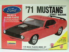 NEW LINDBERG (1971) '71 FORD MUSTANG STREET MACHINE MODEL KIT (SEALED)