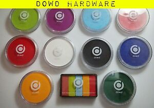 Professional Face & Body Paint Facepaint Cake Fun Party Make Up 10 Colours DOWD