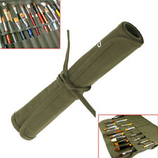 Mohoo Roll Up canvas paint brush bag Cases For Artist Draw watercolor oil brush