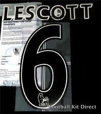 Manchester City Lescott 6 Name/Number Set Football Shirt Lextra 07-13 Home