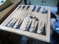 Superb Classic Crafted wooden backgammon set, Game, VGC.