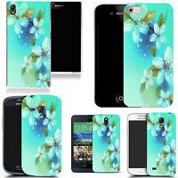 Motif case cover for All popular Mobile Phones - aqua floral gathering