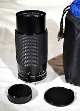 80-200mm Lens f/3.9 for Minolta MD SLR Camera Mount Albinar Macro Zoom
