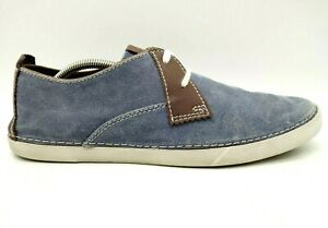 Clarks Blue Jean Canvas Casual Lace Up Fashion Sneakers Shoes Men's 11 M