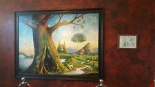 "Large ""Tree of Life""  by Vladimir Kush - Framed 66 X 86"""