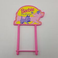 Barbie Pet Parlor 1994 Replacement sign Grooming Table Shop Mattel