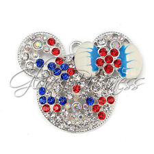 1PC 46x36mm July 4th The Mouse Head Pendant Charm For Bubblegum Chunky Necklace
