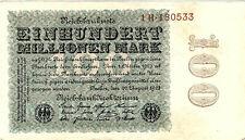 Reichsbanknote 100 Millionen Mark 1923 Berlin Reichsbank DEU-120c P-107b SELTEN