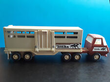 Vintage Collectible TONKA Horse Trailer Tractor Trailer Semi Truck Toy