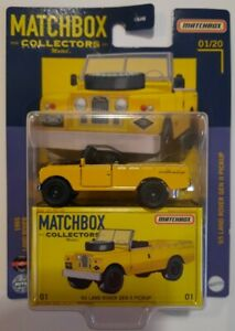 2021 Matchbox Collectors 1965 Land Rover Gen II Pickup Yellow #1 New & Sealed