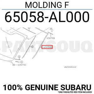 65058AL000 Genuine Subaru MOLDING F 65058-AL000