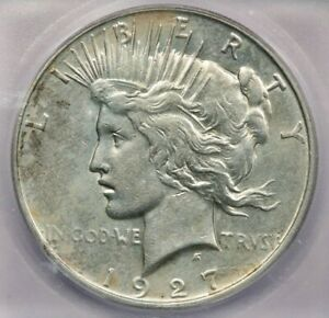1927-D 1927 Peace Dollar $1 ICG AU58 Details