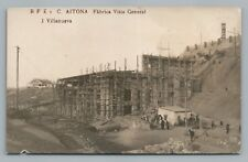 "Aitona Spain RPPC ""Fabrica"" Factory—Antique Espagne Photo Foto Segrià Catalonia"