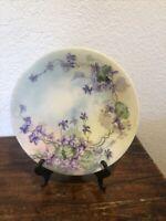 """Antique J.P.L. Jean Pouyat Limoges France Hand Painted Plate 8 1/2"""""""