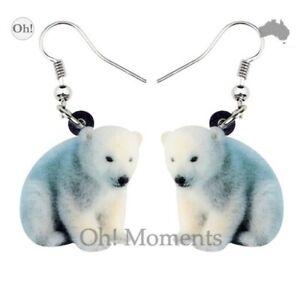Melbourne Seller! ~ Sweet Polar Bear Cub Earrings ~ FREE POST!