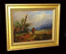 17C Belgian Oil Painting Coming Home by Jan Frans Van Bloemen 1662 - 1749 (Leh)