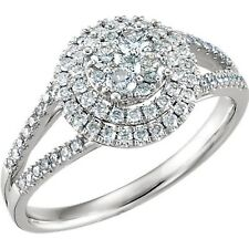 Engagement Ring / Right Hand Ring 14K White 5/8 Carat Tw Diamond