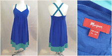 MONSOON BLUE SILK DRESS SIZE 14