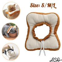 Pet Recovery Collar Toast Bread Anti-bite Soft Neck Cone Adjustable for Dog Cat