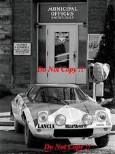 Sandro Munari Lancia Stratos HF ganador cobraba lagos fotografía Rally 1974 2
