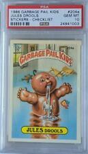 Garbage Pail Kids #204a Jules Drools Checklist PSA Graded 10 Gem Mint 1986 GPK
