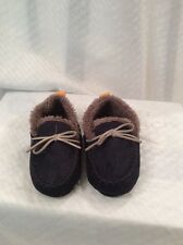 EUC Skidders Baby Toddler Slippers Brown. Size 18M