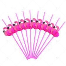 Lots Rose Flamingo Unicorn Cocktails Drinking Straws Hawaii Beach Party Supplies