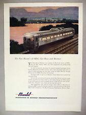 Budd Transportation PRINT AD - 1953 ~~ Leslie Ragan art, New Haven Rail Line