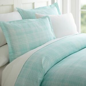 Hotel Quality 3 Piece Thatch Patterned Duvet Cover Set - 4 Beautiful Colors!
