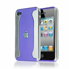 HEAVY DUTY IMPACT CHROME HARD BACK PLASTIC CASE COVER FOR IPHONE 4